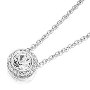 ♠️+ 18K Swarovski® Diamonds Crystal Halo Necklace